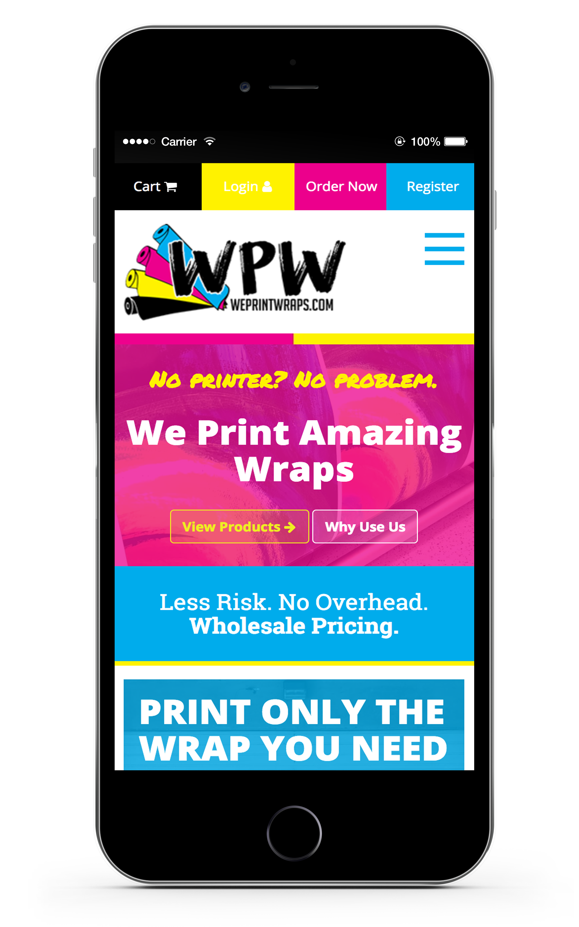 WePrintWraps.com - Web Design, E-Commerce, We Development in Phoenix, AZ