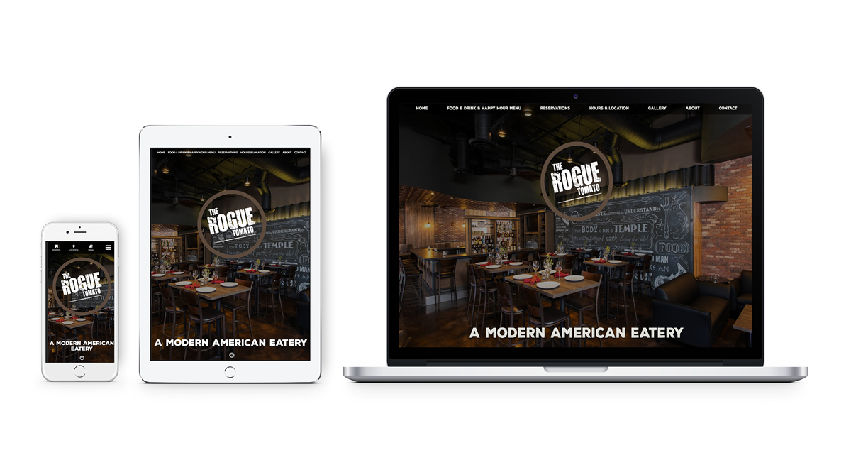 The Rogue Tomato - Web design, branding, user experience